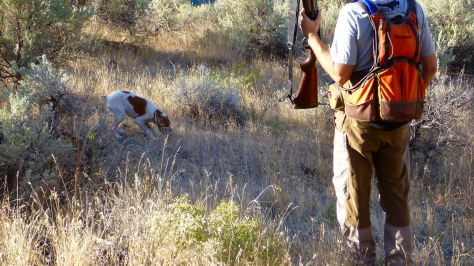 Agony (Peat eats the first chukar of the season).